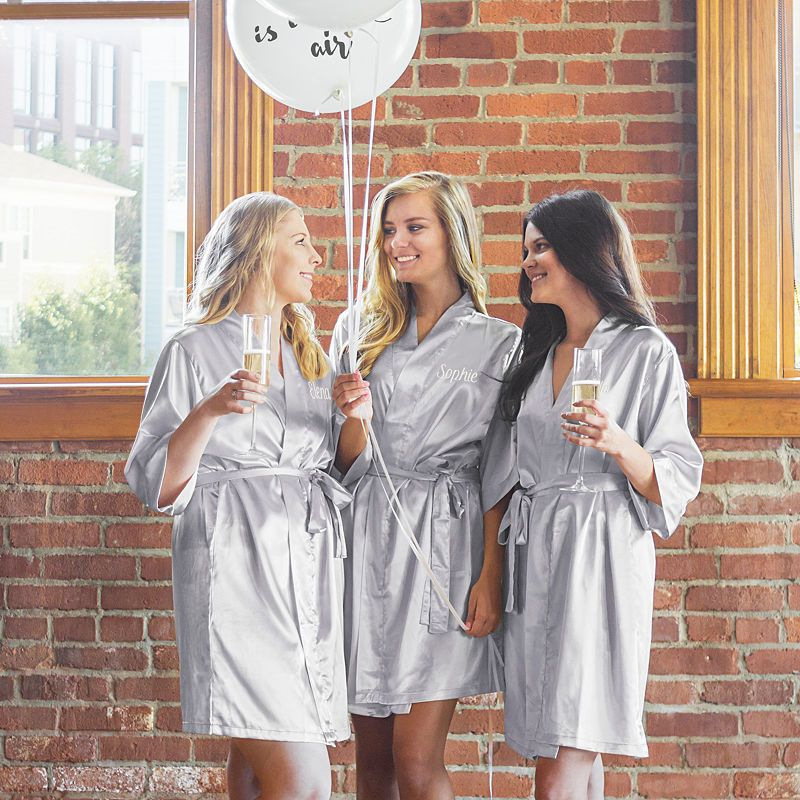 Cathys concepts personalized luxury satin robe with