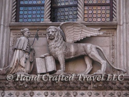 Travel Picture: Day 299. The Doge of Venice kneels before the Lion on St. Mark. Venice, Italy