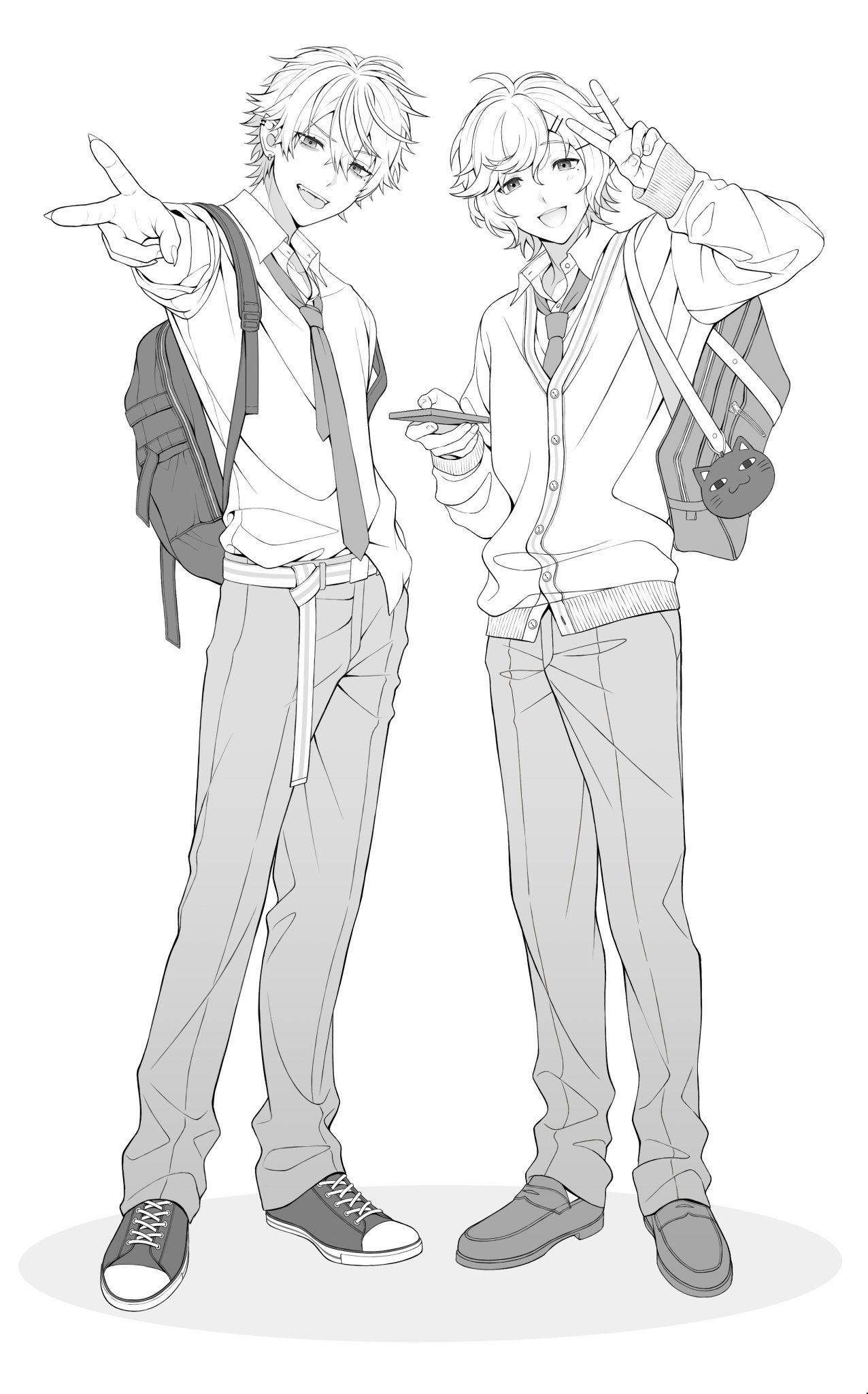 にぐち On Twitter Anime Poses Reference Anime Boy Sketch Anime Drawings Tutorials Group pose sketch coloring etc drawing poses drawing. anime poses reference anime boy sketch