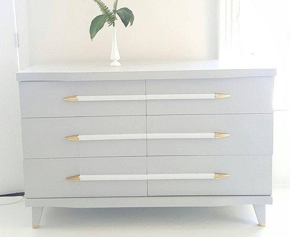Best Sold Mid Century Modern Dresser Vintage Dresser Gray 640 x 480