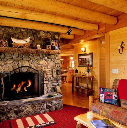Emigrant, MT Log Home #9098 | Real Log Homes since 1963 | Custom Log Homes | Log Home Floor Plans | Log Cabin Kits
