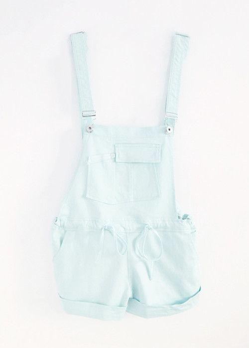 87a503788f0 Cute mint short overalls