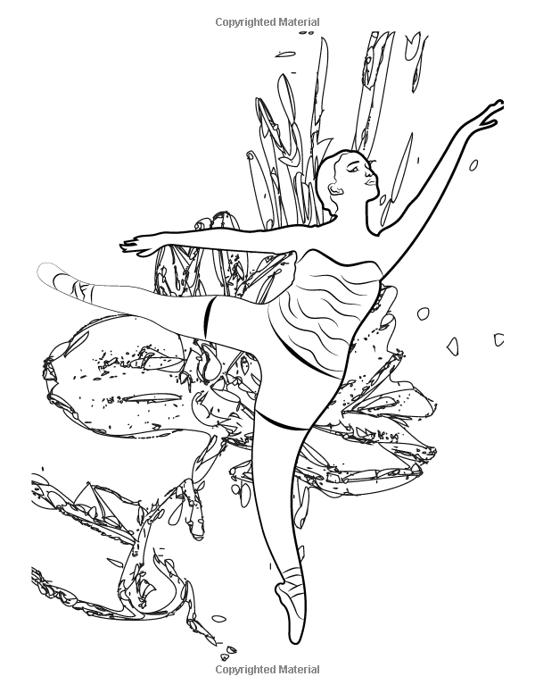 Ballerina Coloring Book: Relaxing Coloring Pages for Adults and Kids ...