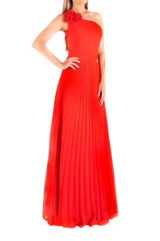 746c0c86ec22f Vestido largo rojo