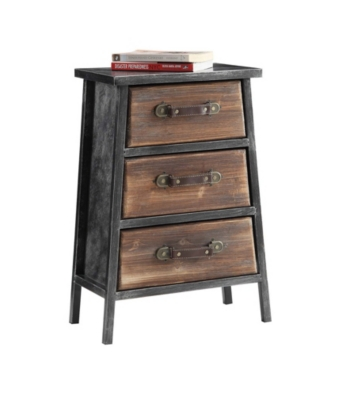 Urban Collection 3 Drawer Chest Gray