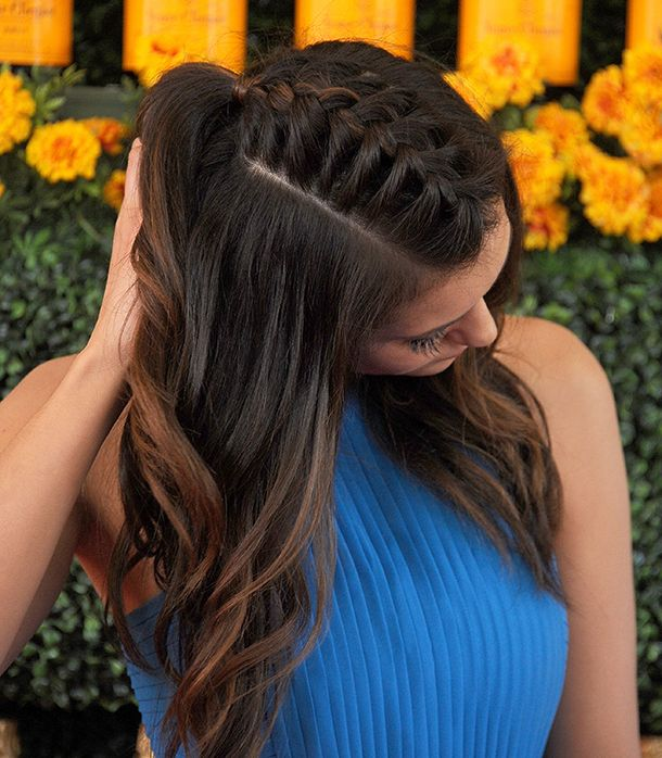 25 Inspiring Braids To Try This Spring Thick Hair Styles Braided Hairstyles French Braid Hairstyles