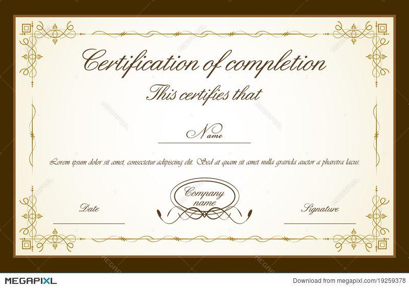 Certificate template diplomas pinterest certificate and template certificate template yadclub Choice Image