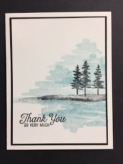 Waterfront, Flourishing Phrases, Thank You Card #stampinup!cards