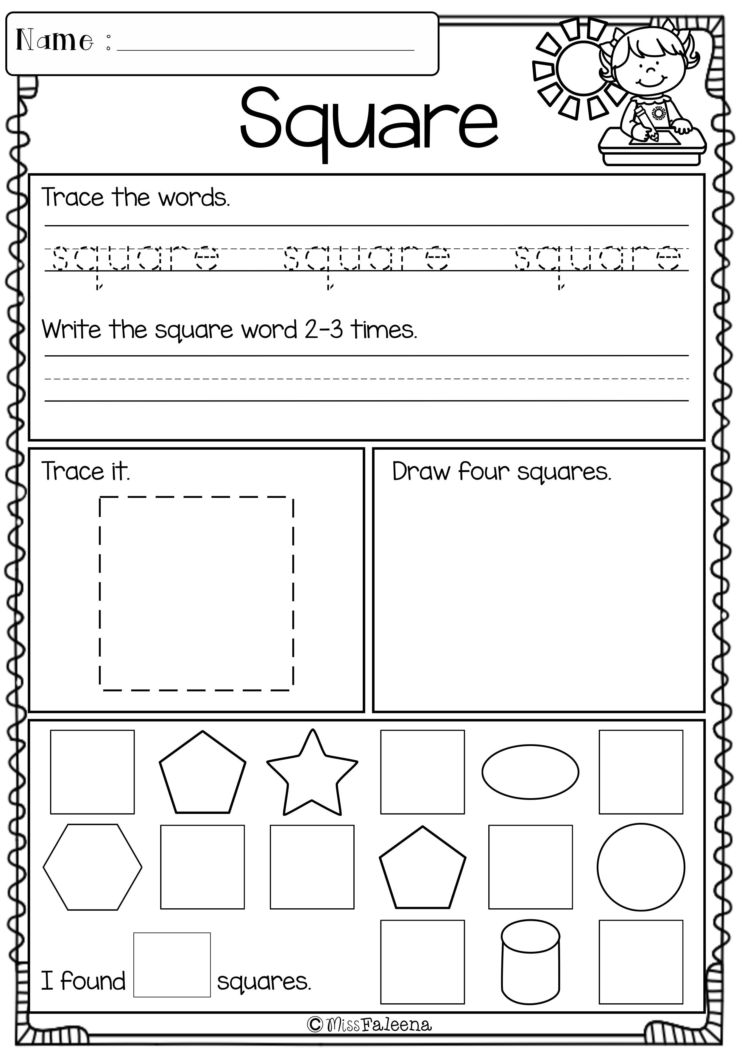 Kindergarten Morning Work Set 3