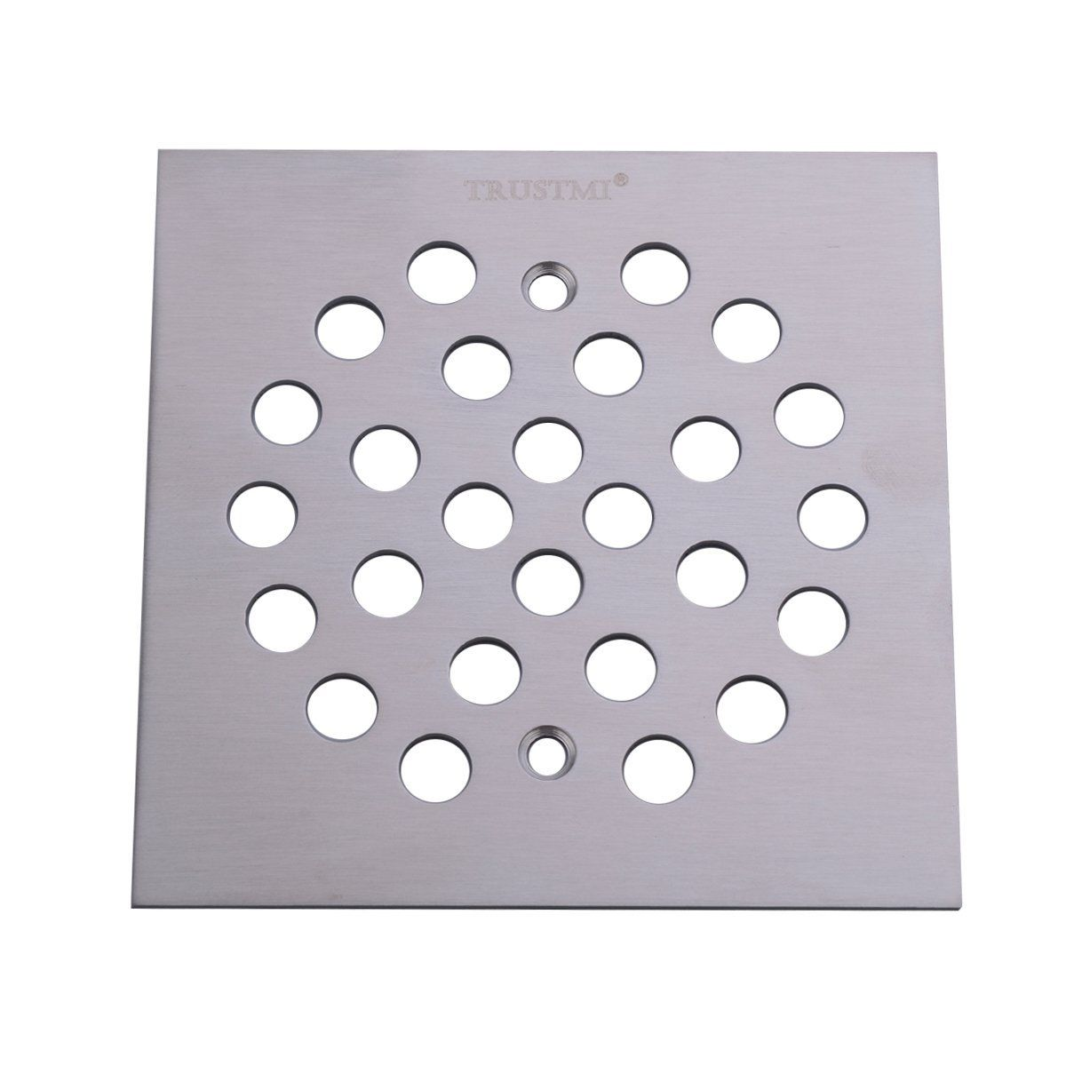 4 1 4 Inch Square Shower Drain Cover Brushed Stainless Finished