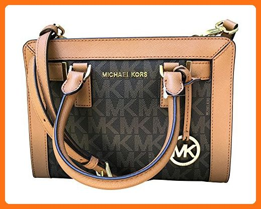 c99322134718 Michael Kors Dillon Monogram Small Satchel /Crossbody Bag Brown - Crossbody  bags (*Amazon Partner-Link)