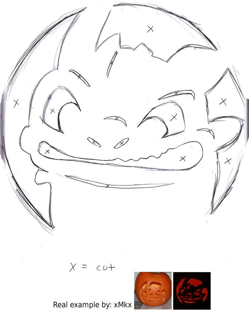 Toothless Pumpkin Carving Template :) … | Pinteres…