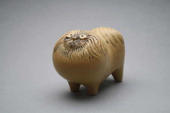 Ceramic Pekinese Dog by Lisa Larson for Gustavsberg by RetroMinded, €95.00