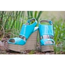 @ Chelsea Island Time Wedges - $49.00 Color is different in other pictures less blue!