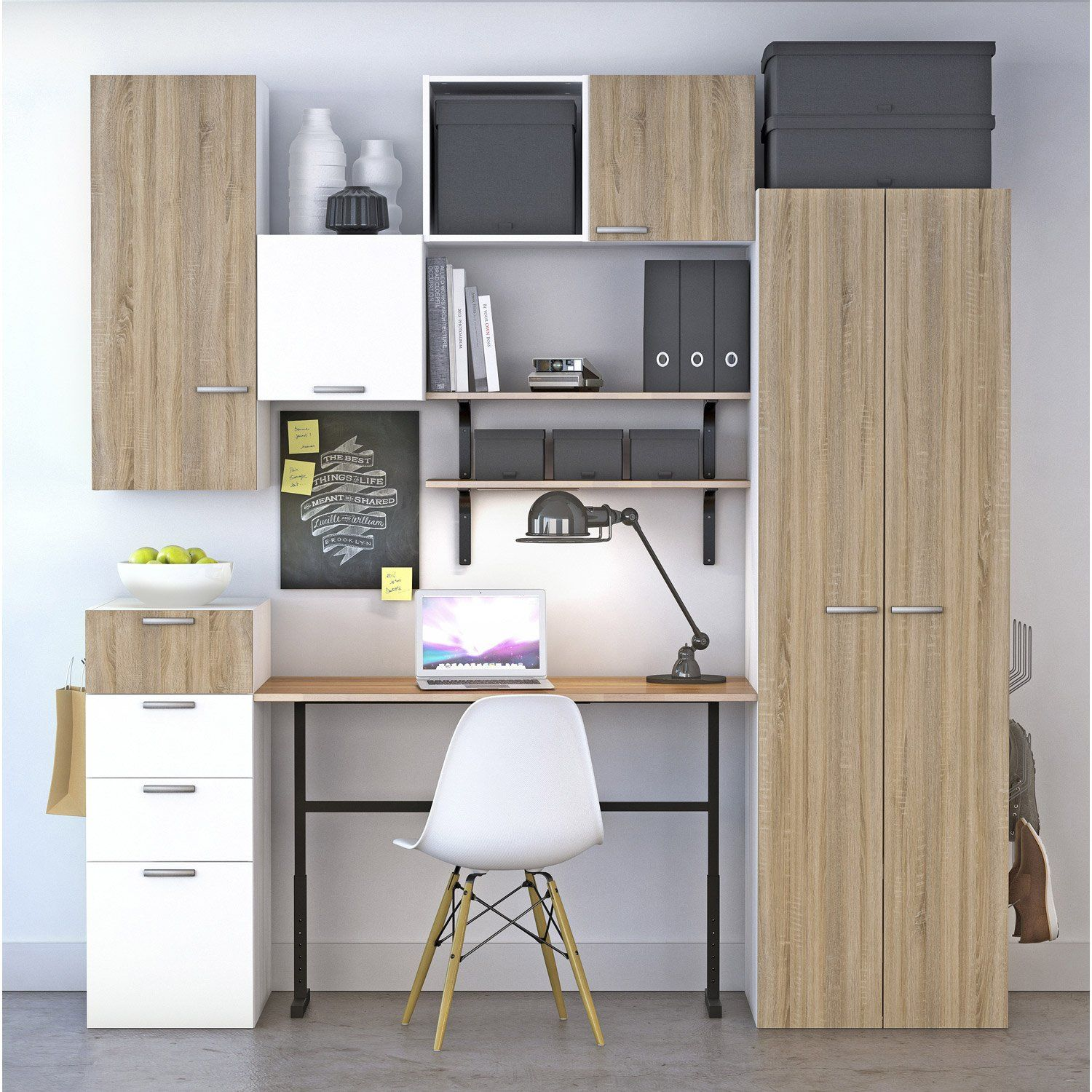 bureau leroy merlin achat bureau spaceo home d cor ch ne. Black Bedroom Furniture Sets. Home Design Ideas