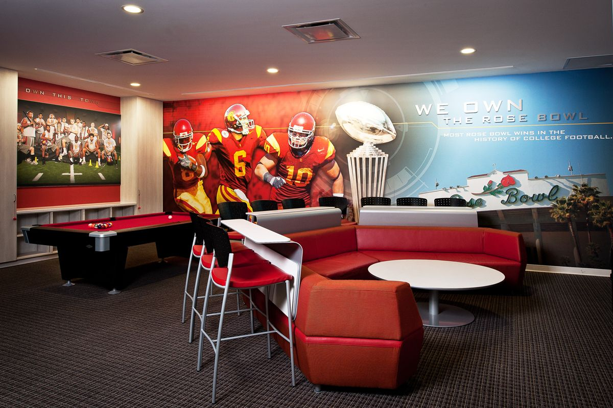 Players 39 lounge the john mckay center at usc advent - Interior design school nashville ...