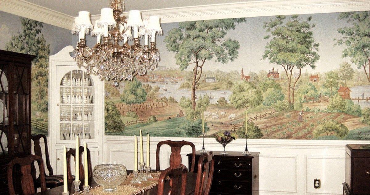 Chinoiserie Wallpaper, Hand Painted Wallpaper Yrmural