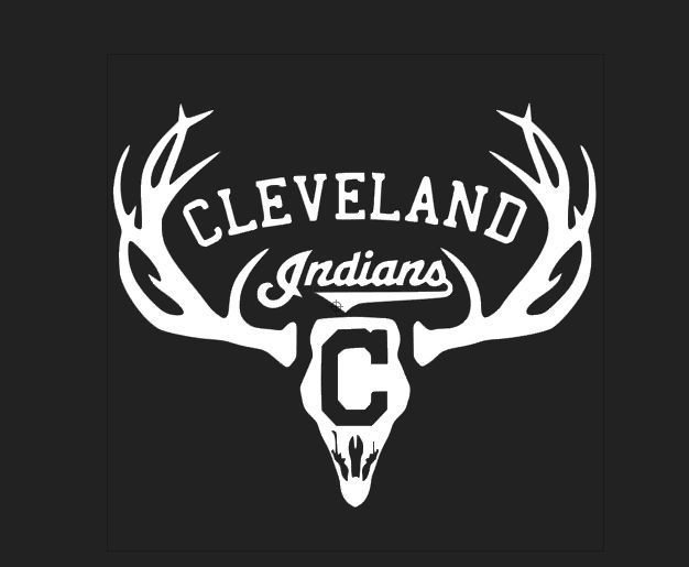 Deer hunting antler truck or car window decal cleveland indians world series