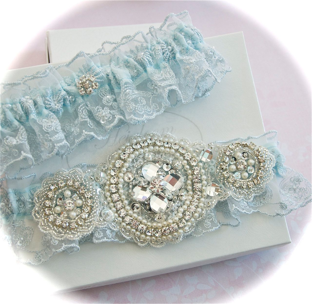 Wedding Garter Symbolism: Blue Has Been Connected To Weddings For Centuries. In