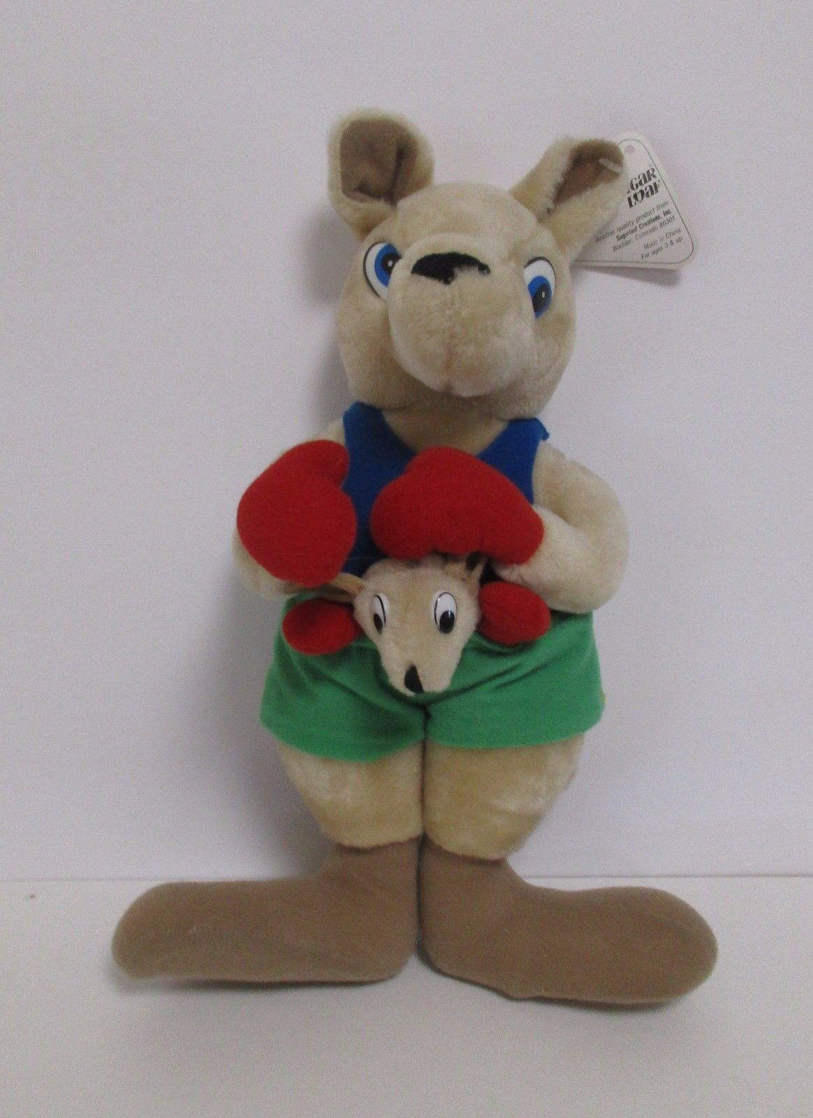 Sugar Loaf Boxing Mama Kangaroo And Boxing Joey Stuffed Plush Red