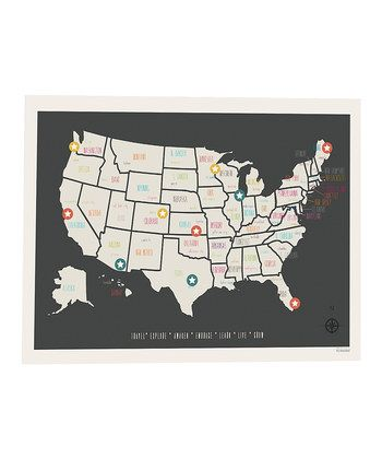 perfect idea for family trips  custom wall map of where you have
