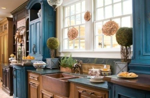 turquoise kitchen cabinets | visit conspicuousstyle com