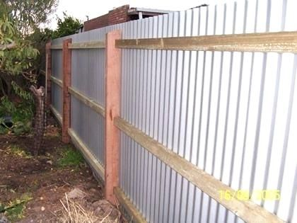 Corrugated Metal Fence Diy Fences Made With Tin Outdoors Painted Green Privacy