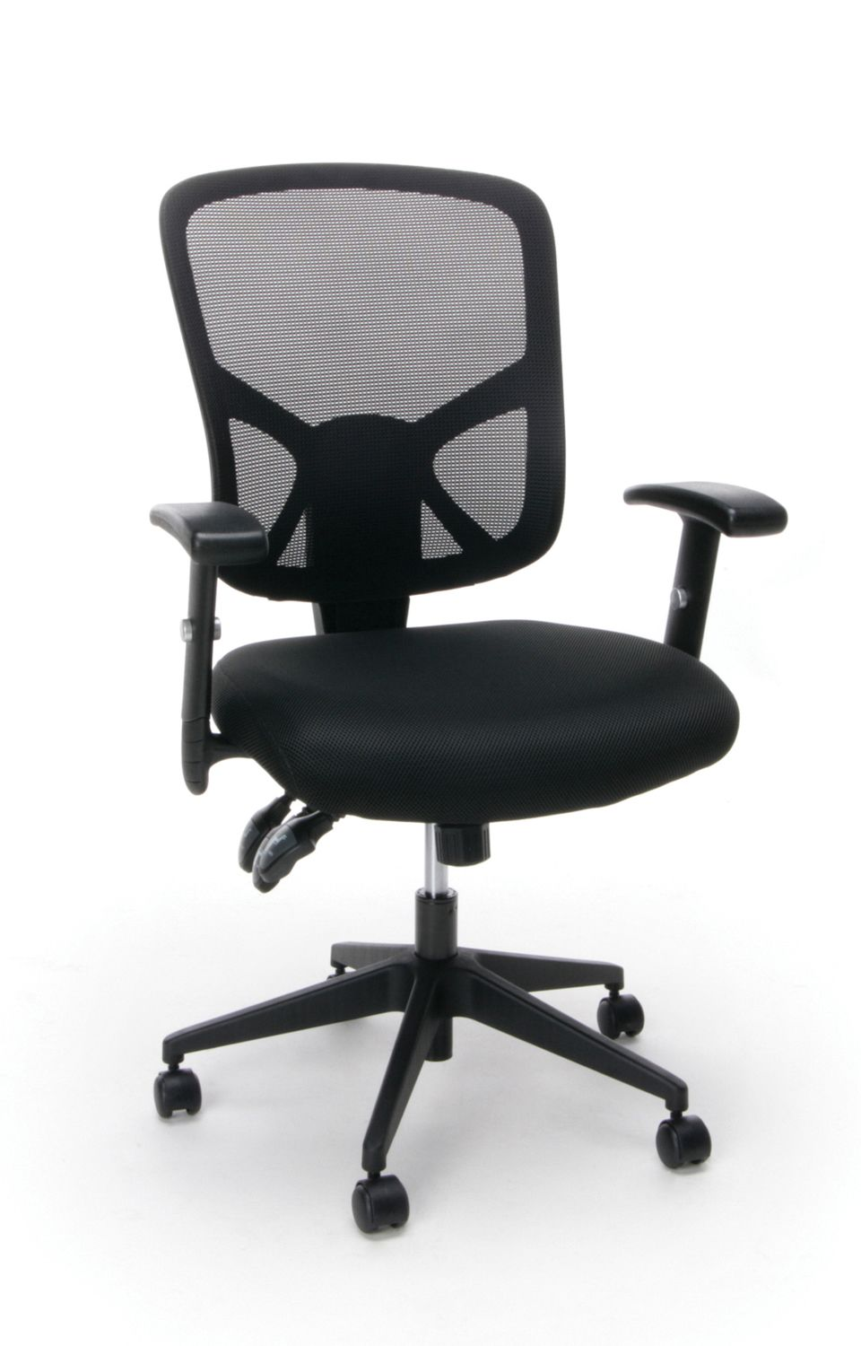 Office Max Computer Chairs Ofm Essentials 3 Paddle Ergonomic Mesh High Back Chair Black