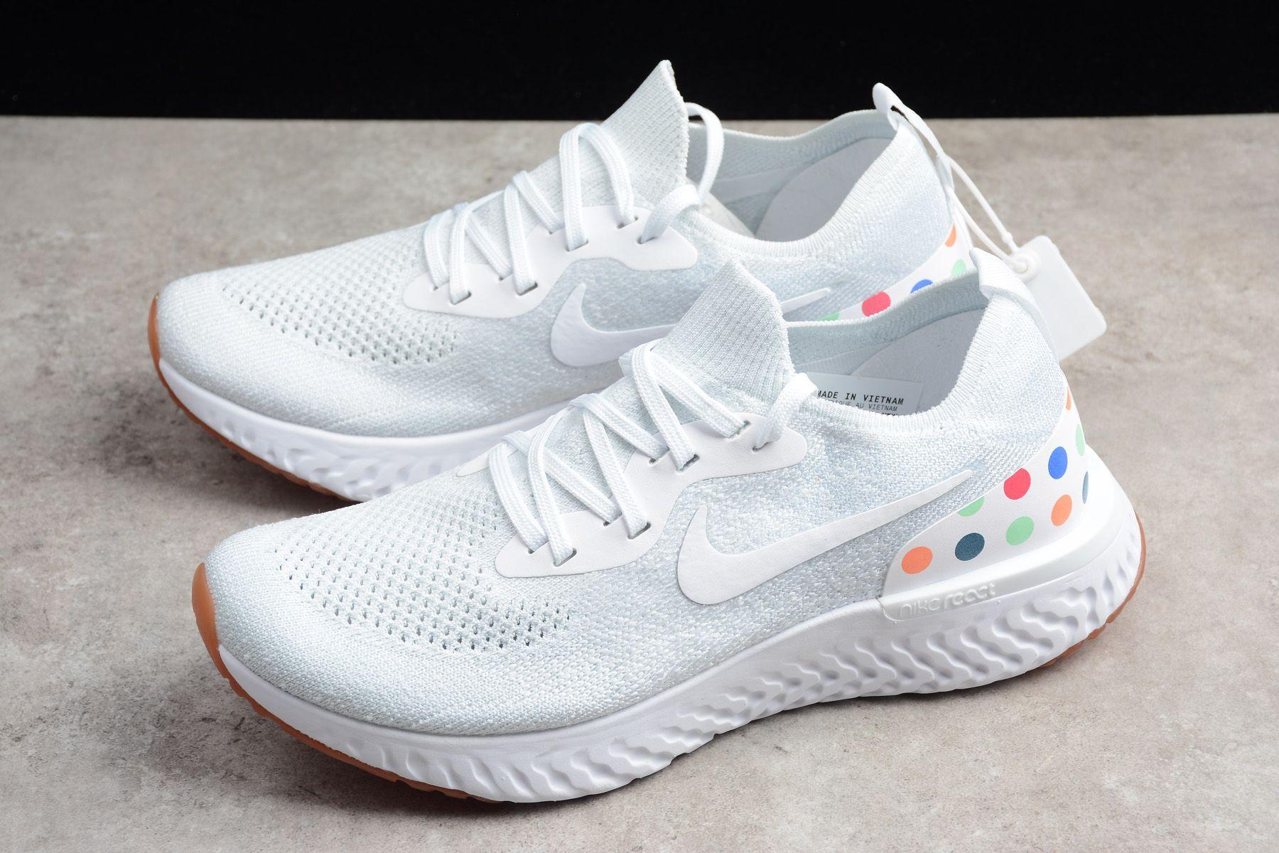 "Women s Nike Epic React Flyknit ""Tokyo"" White Gum AQ0067-994  c156af07b"