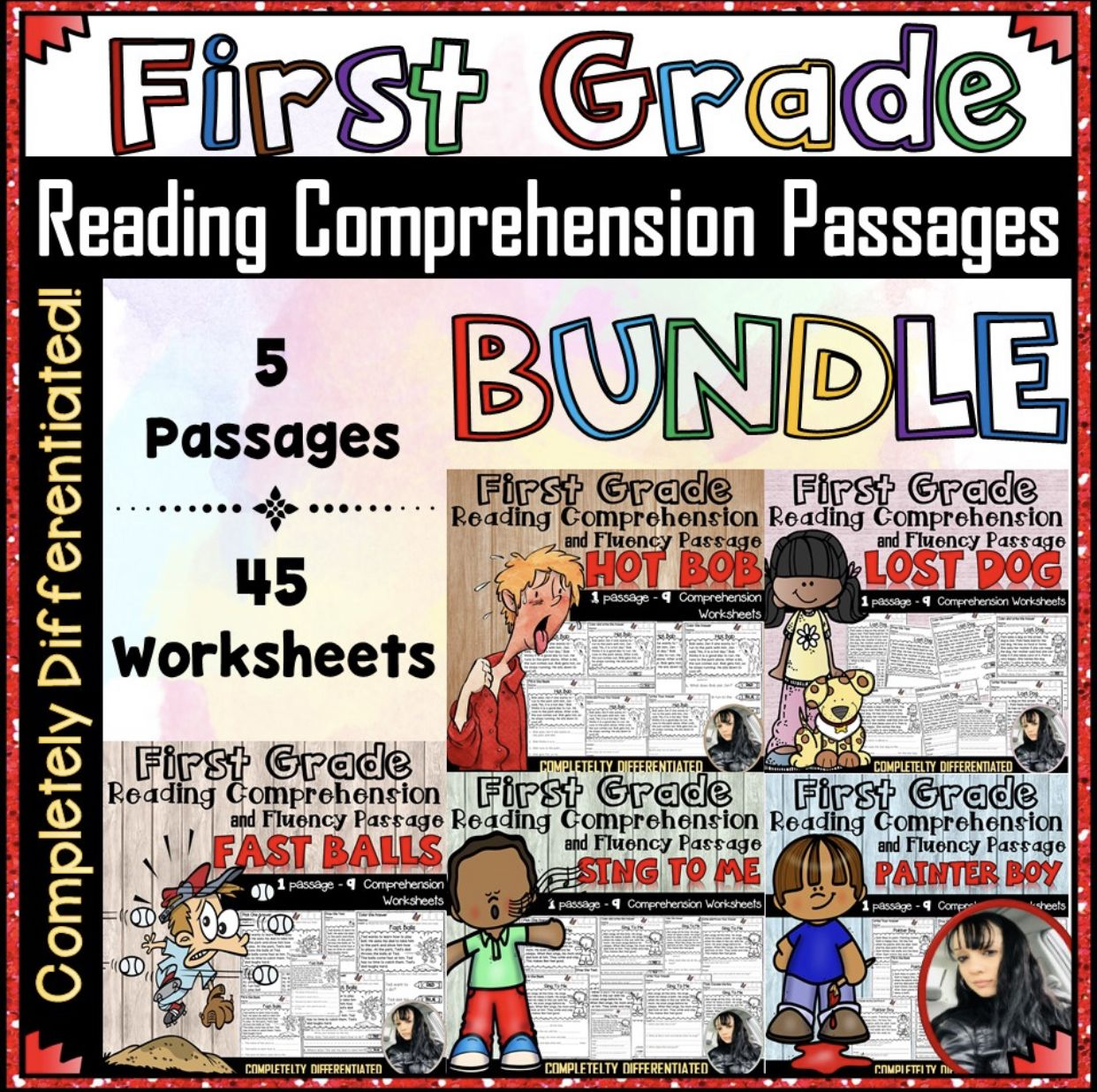First Grade Reading Comprehension Worksheet Bundle 50