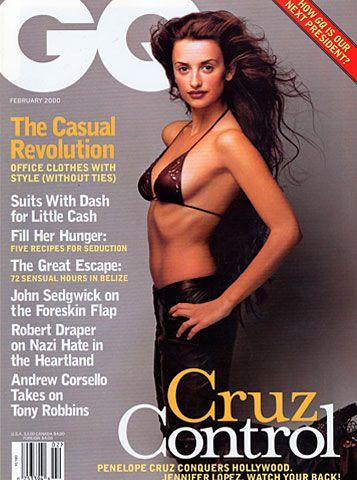 GQ.com: Penelope Cruz February 2000.