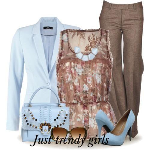 turquoise blazer outfot