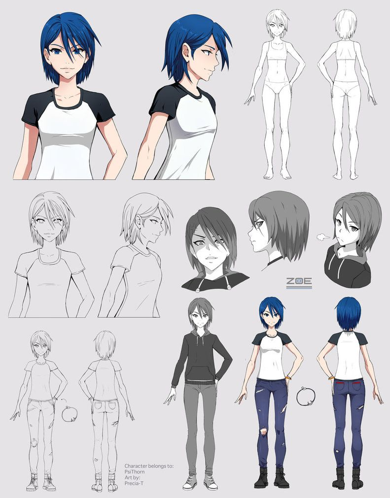Zoe Character Sheet Commission By Https Www Deviantart Com Precia T On Deviantart Character Sheet Character Design Anime Character Design