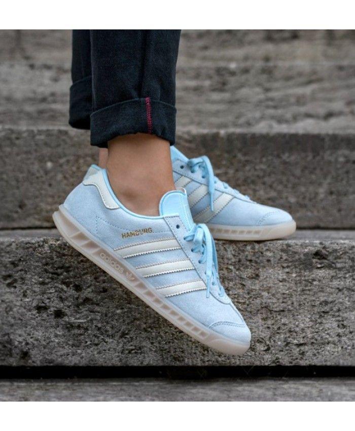 Adidas Hamburg W Ice Blue Off White Off White | Adidas hamburg ...