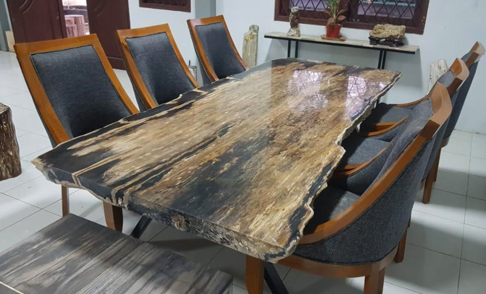 Pin On Petrified Wood Dining Room Table
