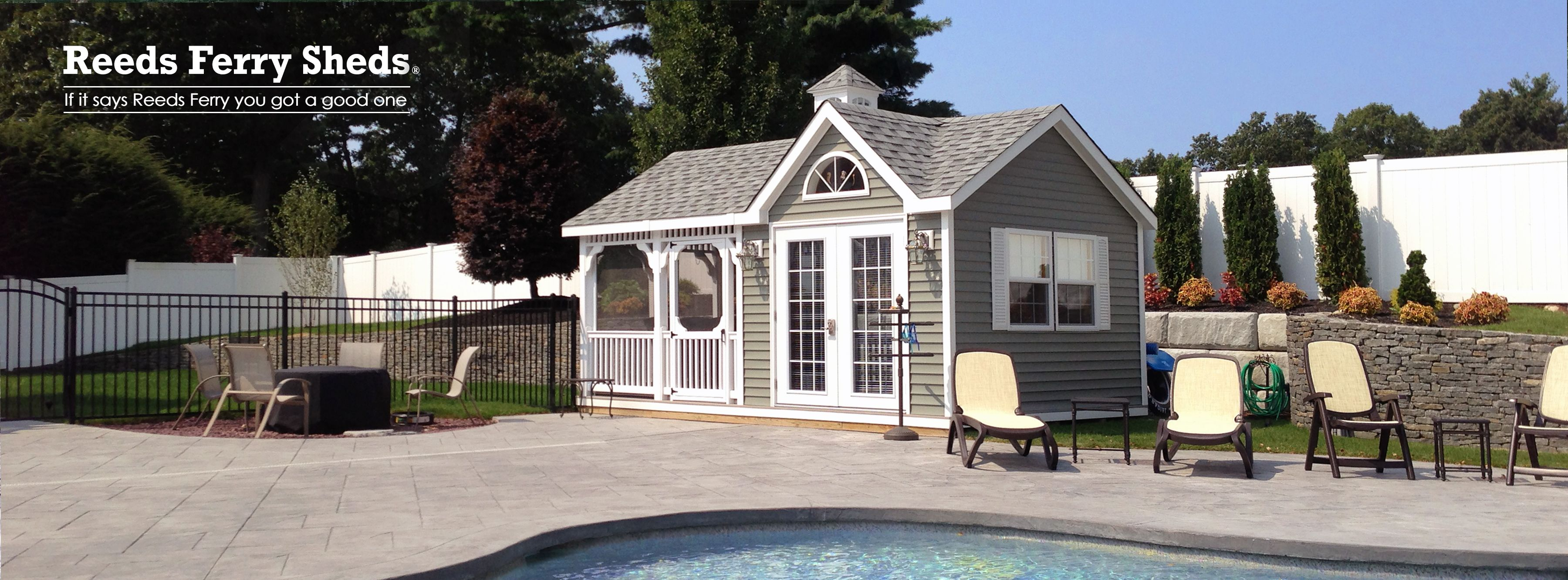 Reeds Ferry Sheds Screened Pool House