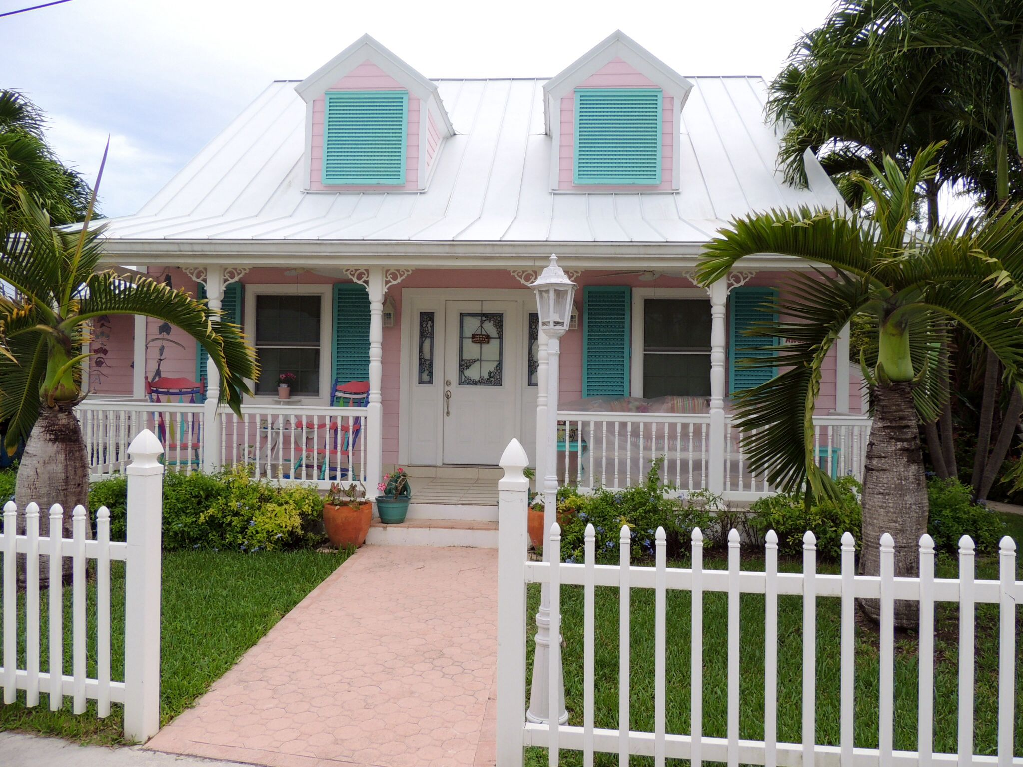 Colorful little cottage in Cherokee Sound, Abaco Bahamas