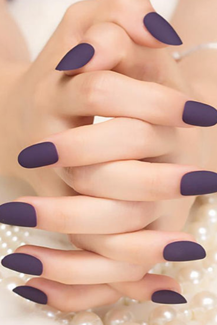 Love these! Matte False Nails Fake Nails Tips Full Cover Classical ...