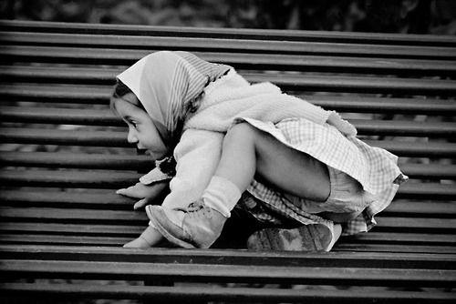 Girl on bench Paris 1956   Photo: Frank Horvat