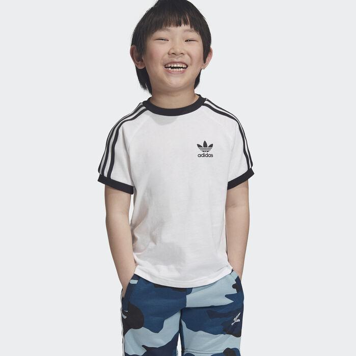 3 Stripes Tee White Kids | Striped tee, Tees, Blue adidas