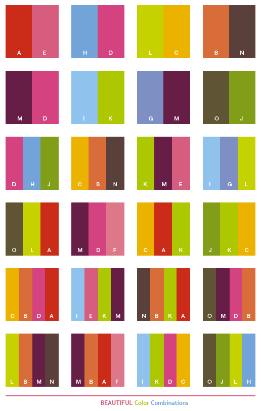 Great Color Combinations | Beautiful color schemes, color combinations,  color palettes for print .