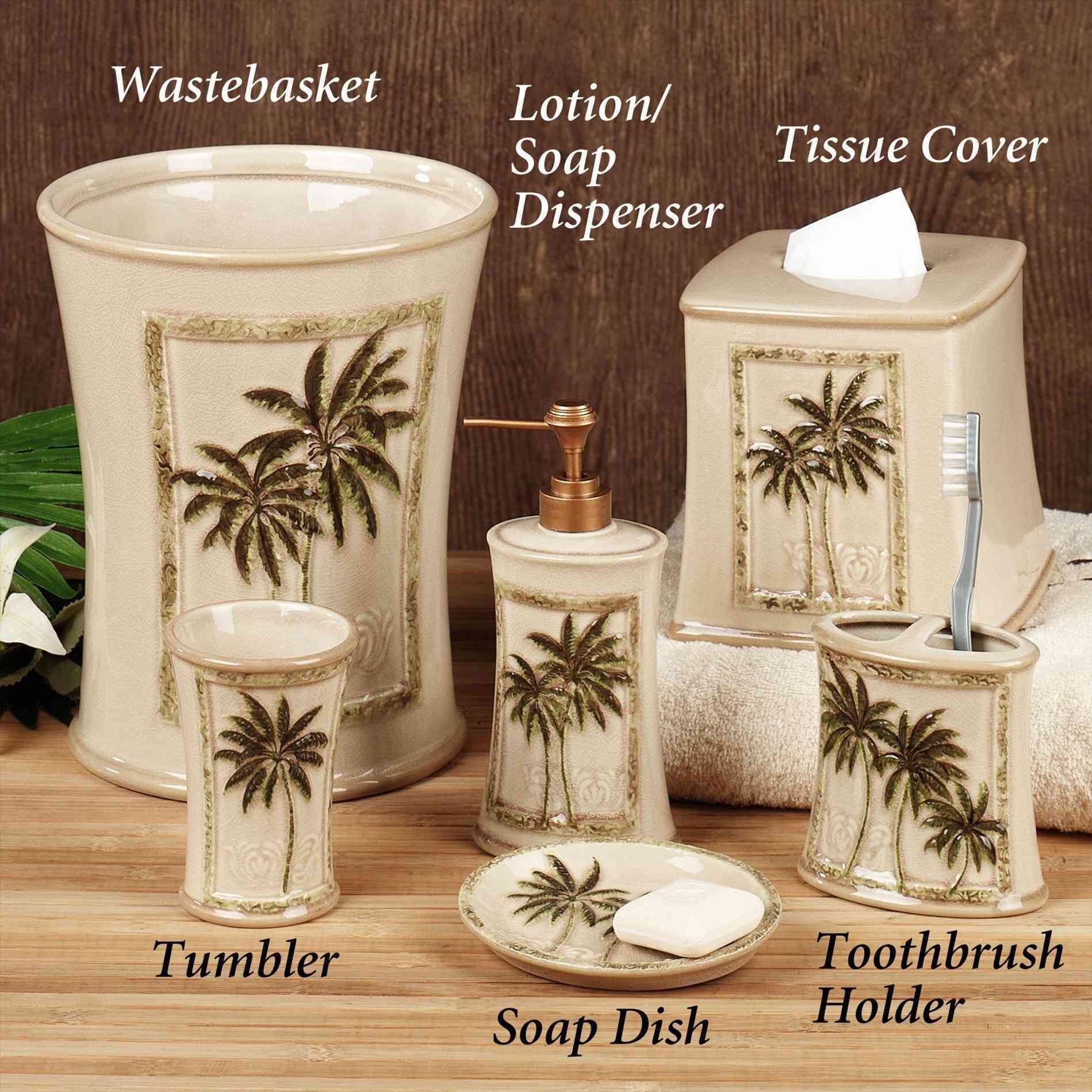 New Post Palm Tree Bathroom Sets