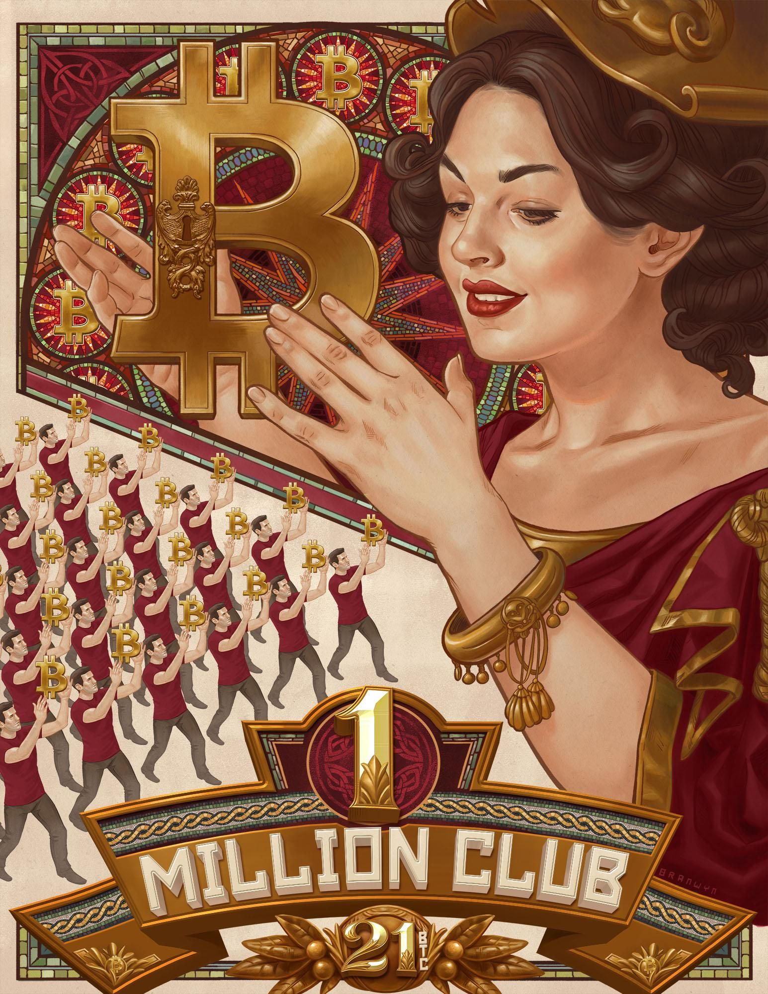 Monday Art Special 1 Million Club! Bitcoin, Bitcoin