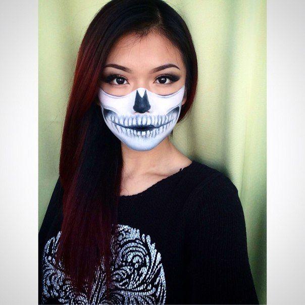 halloween half skull make up by anastacia acid wwwanastaciacidcom anastaciacidmua inspired - Chrispy Halloween