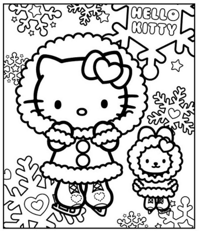 Hello Kitty Coloring Image By Dori Hazi On Winter Princess Kids