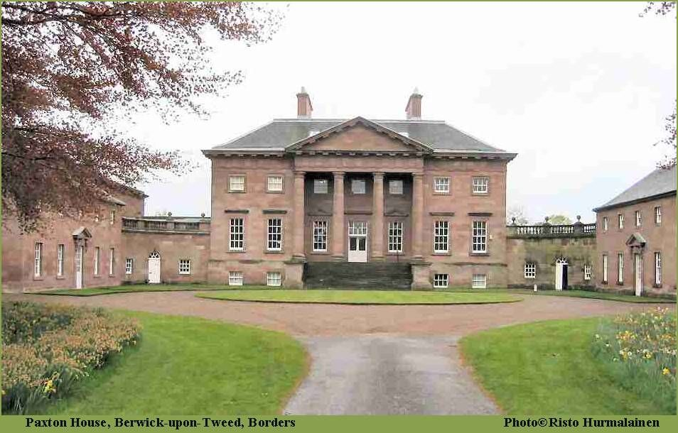 Situated on the banks of the river Tweed, Paxton House is a hidden gem.    Built by the Adam brothers in 1758 for the young Patrick Home it is perhaps the finest example of 18th century Palladian Country houses in Britain