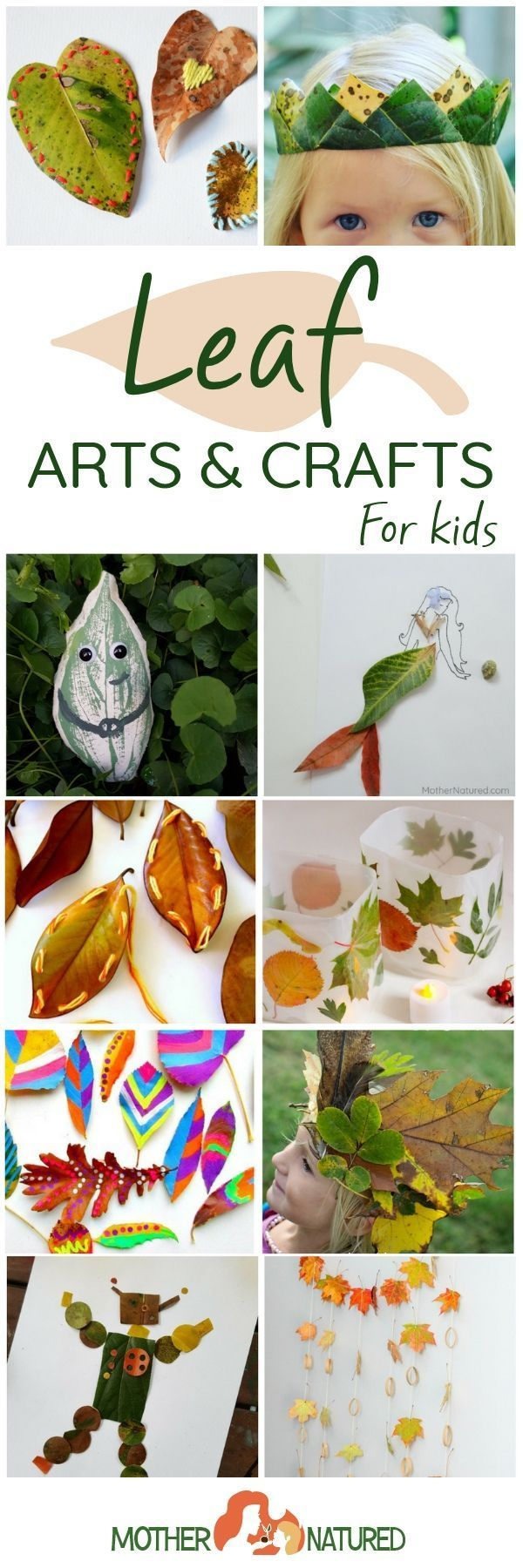 Leaf Arts and Crafts to Celebrate Days Filled with Falling Leaves #leafcrafts