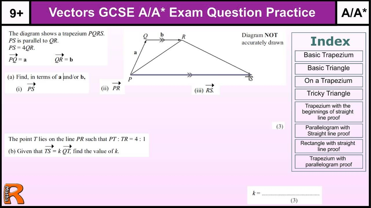How to do vectors aa gcse maths revision higher level worked exam how to do vectors aa gcse maths revision higher level worked exam ques fandeluxe Images