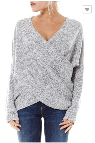 d1a7d80ea Criss Cross Sweater (Grey)