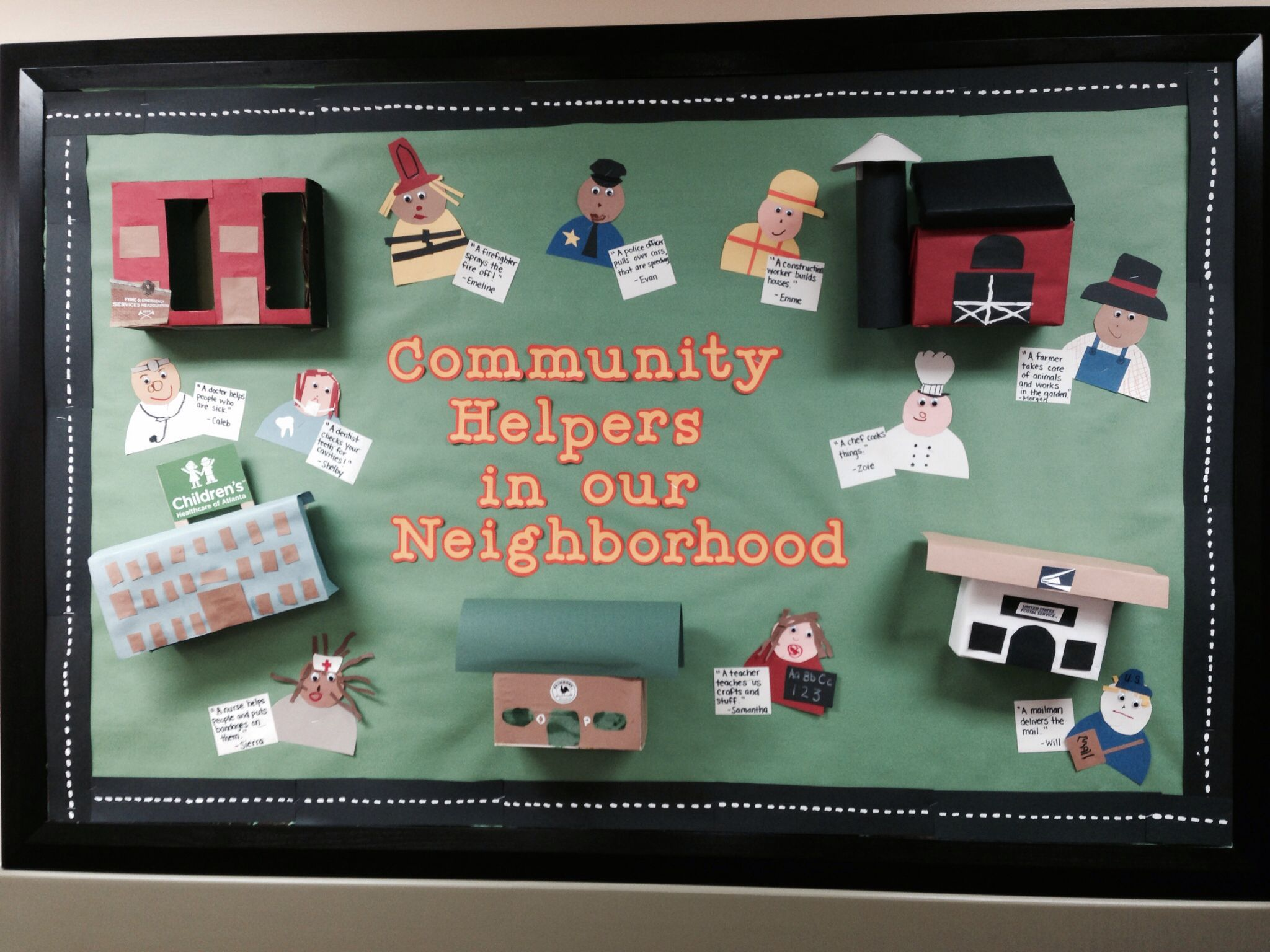 My October Community Helpers Bulletin Board